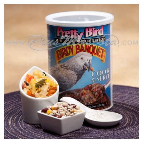 Pretty Bird Banquete Alimento Cocido
