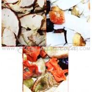 Surtido 3 bolsas Frutas Deshidratadas para Loros y Roedores